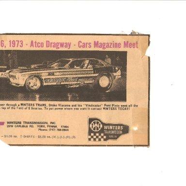 Vindicator - 1973 Atco Dragway - Cars Magazine 001