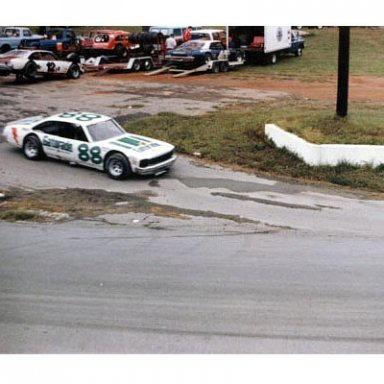 Darrell Waltrip leaving the pits at Franklin County