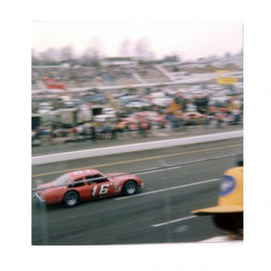 Butch Lindley at speed in Martinsville