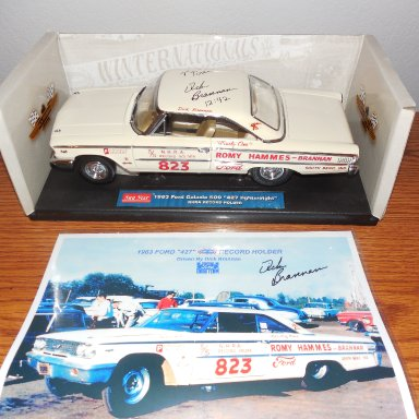 Dick Brannan signed 1963 Ford Galaxie World Record Breaker