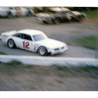 Bobby Allison? leaving the pits at Franklin County