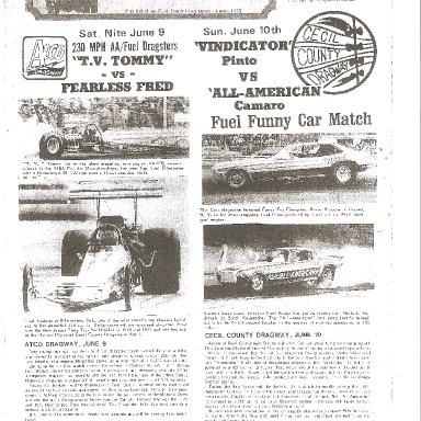 Vindicator- East Coast Drag News June 2, 1973