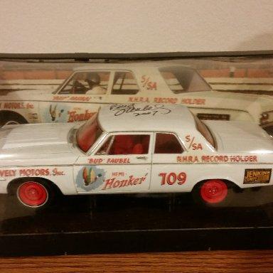 "Bud Faubel signed 1964 Dodge ""Hemi Honker"""