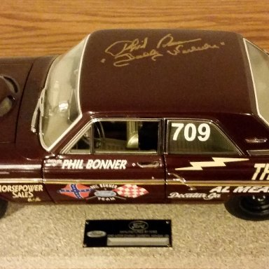 "Phil Bonner ""Daddy Warbucks"" signed Thunderbolt"