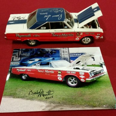 Ronnie Sox and Buddy Martin signed 67 GTX