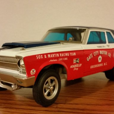 Buddy Martin signed 65' Plymouth AWB
