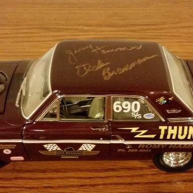 Jerry Hammes & Dick Brannan signed Thunderbolt