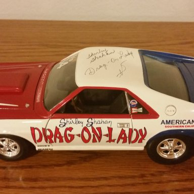 Shirley Shahan Drag-On-Lady signed 69'AMX