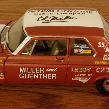 Ed Miller signed 65 Belvedere