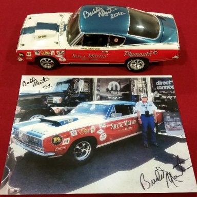 Buddy Martin signed 69 Cuda