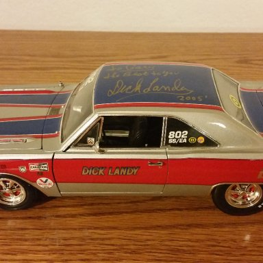 Dick Landy signed Dodge Dart