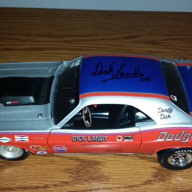 Dick Landy signed 1971 Dodge Challenger