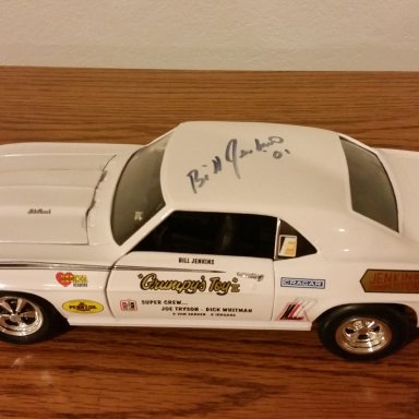 "Bill ""Grumpy"" Jenkins signed 69 Super Stock Camaro"