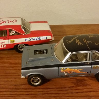 Butch Leal and Mr. Norm signed AWB Drag cars