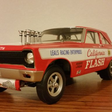 "Butch Leal ""The California Flash"" signed 65'AWB Plymouth"