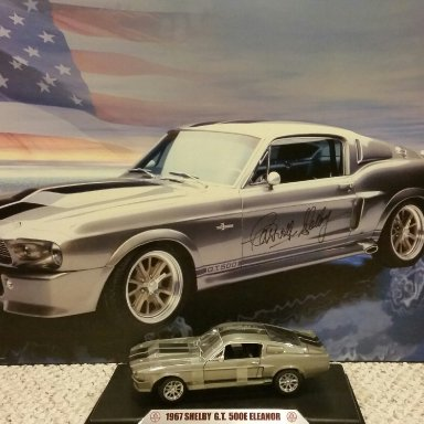Eleanor Shelby 500E signed by Carroll Shelby and Chip Foose