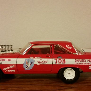 Bud Faubel signed 65' AWB Hemi Dodge Coronet w/ stacks