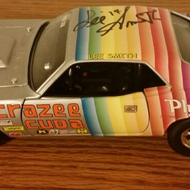 Lee Smith signed 71' Crazee Cuda