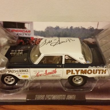 Lee Smith signed 65' AWB Plymouth