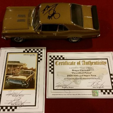 Matthew Berger and Dale Berger Jr. signed Berger 70' Nova