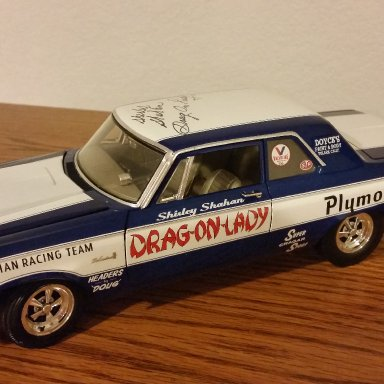 Shirley Shahan Drag-On-Lady signed 65' Belvedere