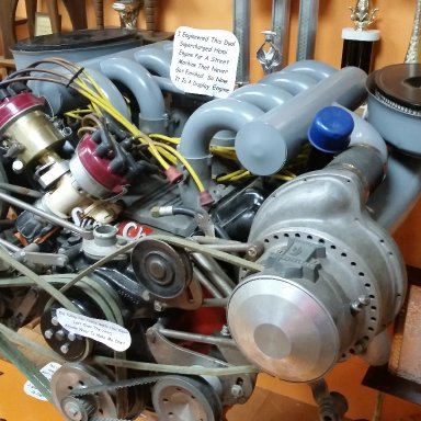 dual supercharged hemi at Lee Smiths museum