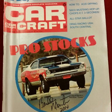 Buddy Martin signed vintage Car Craft magazine