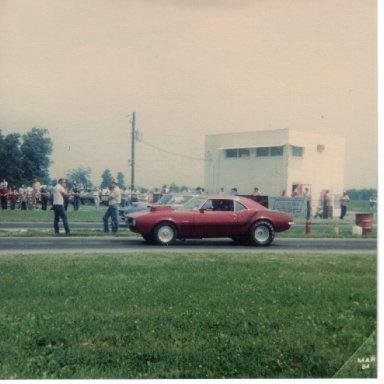 Stan Witzel driving Ron Brown's Camaro