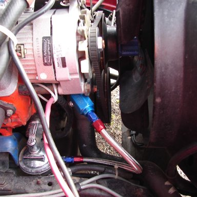 fuel filter and lower fuel line.