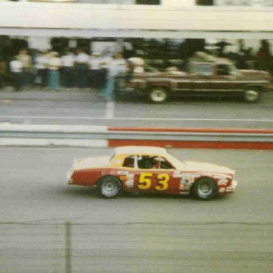 53 Slick Johnson from Florence SC - Cup practice at Darlington 4/81