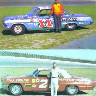 #11 Ned Jarrett & #2 Jim Paschal