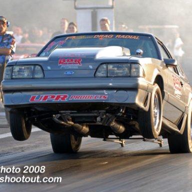 "Bill ""Perky"" Perkins '87 Mustang GT RAM Drag Radial Car"
