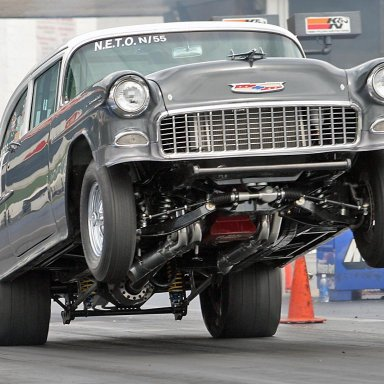 55 chevy wheels up
