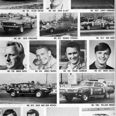 69NHRA SPRING NATS STOCK CARS n DRIVERS