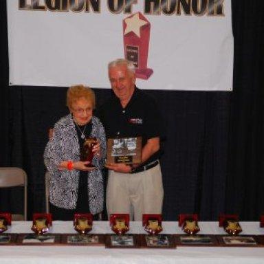 Helen Gibb Receiving Fred Gibb Legion of Honor '08