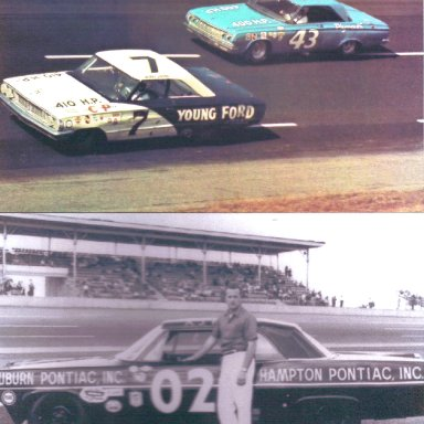 #7 Bobby Johns Racing With #43 Richard Petty in 1964 & #02 A.J. Foyt