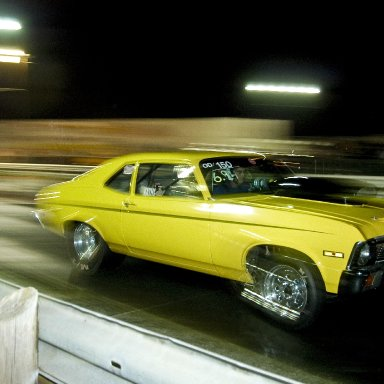 Chevy Nova hauling off the line at ODR