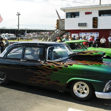 1956 Ford Crown Vic at Old Dominion Drag Strip 2008