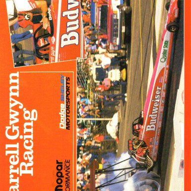 1988 Darrell Gwynn Budweiser Top Fuel Dragster