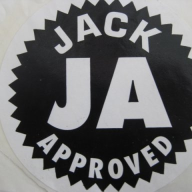Jack Approved decal.