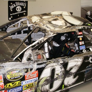 Clint Boyer flipped this car in the 07 Daytona 500. (Richard Childress Museum)