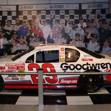 Kevin Harvicks car from 1st win Atlanta in 2001