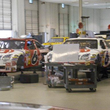 Inside Roush Racing shop