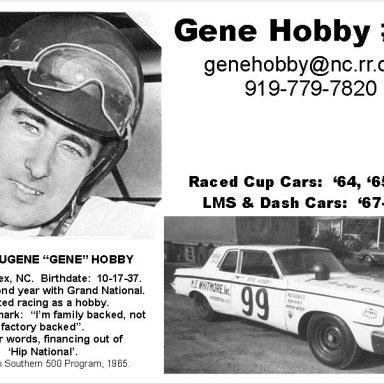 GeneHobby InfoCard