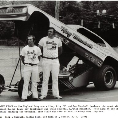 1971 King & Marshall Duster AAFC