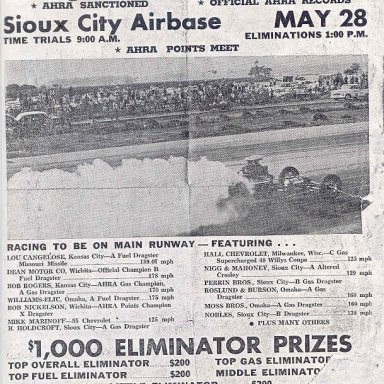 Sioux City Strollers Drag Races
