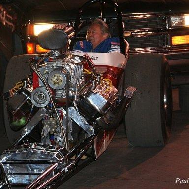 "Dave Uyehara in the  ""Jim Herbert"" car -Cacklefest, 2008 CHRR"