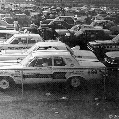 Bill Jenkins,Dave Strickler,Bud Faubel - Staging Lanes 1965 AHRA Winter Nats, Beeline