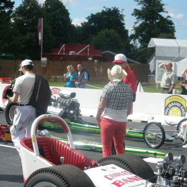 An old flathead dragster now residing in England