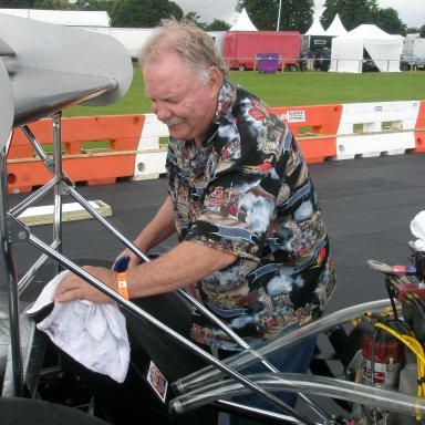The Unsinkable Kelly Brown 1978 # 1 1979 Indy 50th Winner prepping the OTHG